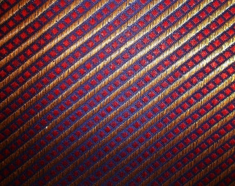 Fat quarter of Indian silk brocade in indigo,red and gold