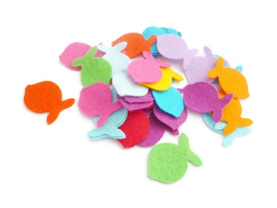 Felt shapes die cut fish arts and crafts felt animals fish for Felt arts and crafts