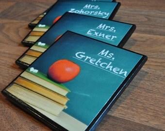 PERSONALIZED Teacher Ceramic Coaster (Teacher Gifts)