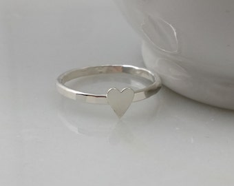 Sterling Silver Skinny Heart Ring