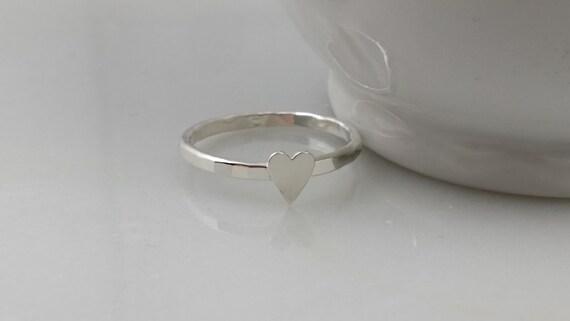 Sterling Silver Skinny Heart Ring