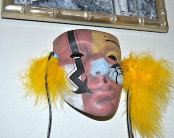 25%OFF Zuni Native American Pottery Mask Anasazi Figure People Pueblo Primitive Earthenware Clay