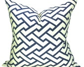 China Seas Aga pillow cover in New Navy