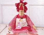 Primitive Folk Art Raggedy Annie Doll Raggedy Friends Rag Doll  RFAB#2