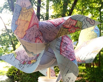 18 Custom Map Pinwheels