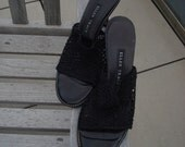 Black mesh shoes