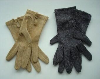 Metallic glam gloves