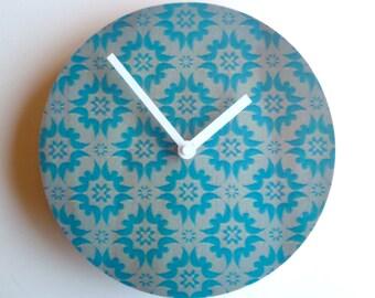 Objectify Blue Burst Wall Clock