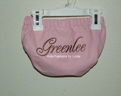 Personalized Pink/Brown Diaper Cover