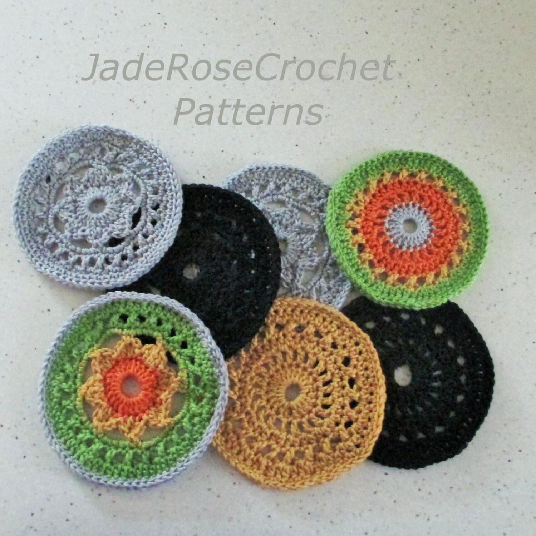 Free Crochet Mug Coaster Pattern : Crochet Coaster Pattern Large Coaster Pattern Mug Rugs