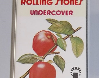 1970s Music Cassette Tape: Under Cover Undercover by the Rolling Stones.