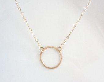 Eternity Necklace, Infinity Necklace, Karma Necklace, Open Circle Necklace, Sterling Silver, Gold, Wedding Necklace, Gift For her, Jewelry