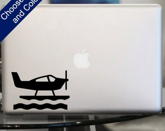 Sea Plane Decal - for Laptop, Car
