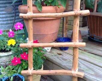 Vintage handmade ladder, old ladder