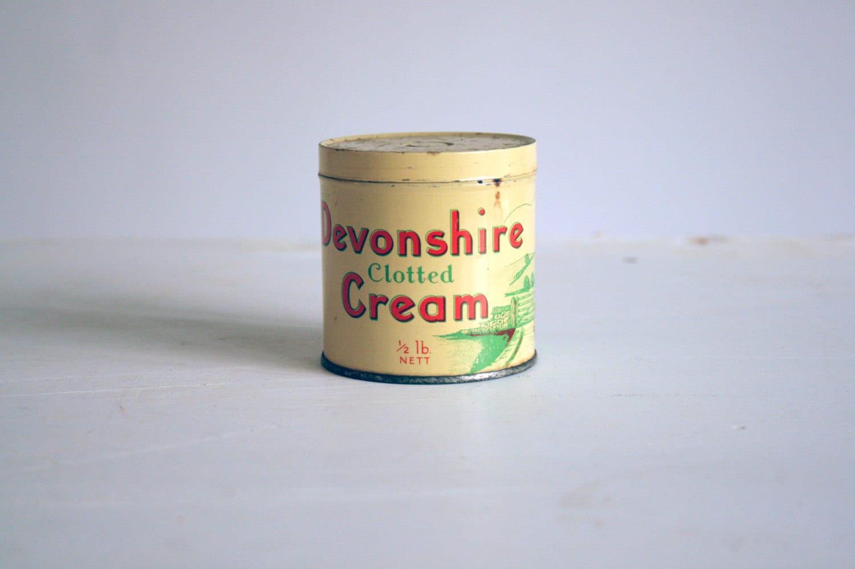 vintage devonshire clotted cream tin. Black Bedroom Furniture Sets. Home Design Ideas