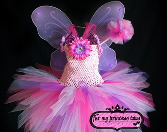 Princess Fairy Tutu Dress Set -newborn tutu, infant tutu, baby tutu, toddler tutu, tutu costume, pageant tutu, 1st birthday tutu, fairy tutu