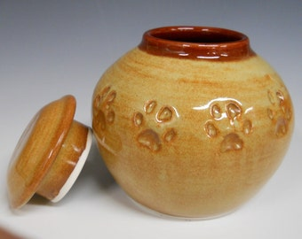 MADE TO ORDER - Custom Ceramic Cat Cremation Urn, Handmade Pottery, Personalized Keepsake Urn