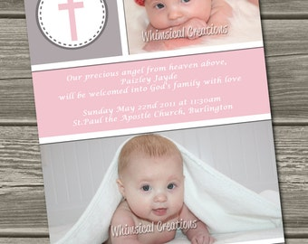 Christening / Baptism Invitation (Digital File) - I Design, You Print