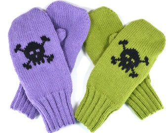 Baby Skull Adult Mittens or Gloves - Free Shipping