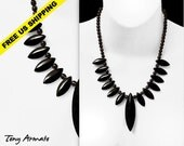 Black Dagger Statement Necklace. Classic Southwest Design. A 'Special Order' Limited Edition Item. Allow Two Weeks For Delivery.
