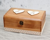 Wedding Card Box Rustic Wooden Box, Keepsake Box, Customisable Card Box, Memory box, Advice Box, Wedding cards, Wishes Box