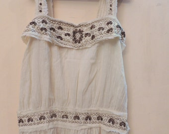 Beautiful hand embroidered vintage look dress