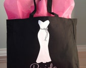 Personalized Bride and/or Bridesmaid Tote Bag