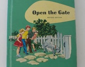 vintage textbook Open the Gate Ginn and Company first reader 1959 from Diz Has Neat Stuff