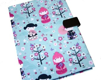 Kobo Samsung Galaxy Tab Case Kindle HDX HD Cover iPad Air Mini Kindle Paperwhite Nexus Tablet Asus Case Kokeshi Dolls Magnetic Closure