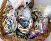 """1/4"""" Grosgrain Ribbon - 15 yard Bags of Assorted Colors"""