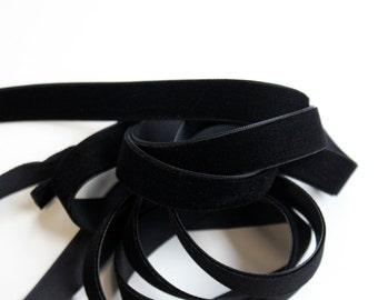 """5/8"""" Velvet Ribbon - Black - 5 yards"""