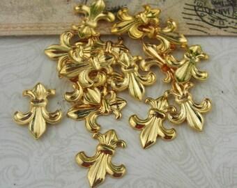 36pcs Golden Plated  Flower Filigree,10x12mm