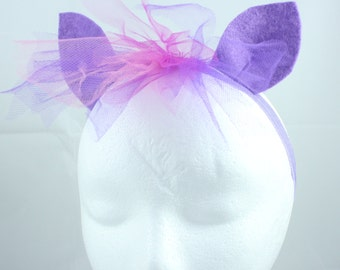 Twilight Sparkle Pony Ears and Mane Headband - Twilight Headband - My Little Pony Twilight Costume - Twilight Ears