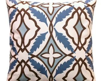 CLEARANCE Decorative Throw Pillow- Premier Prints Eden Cadet Blue Pillow Cover- 16X16- Zippered Cushion Cover- Blue Pillow Case- Toss Pillow