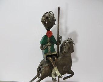 Manuel Felguerez Boy with Lollipop Boy on Carousal Metal Art Paper Mache Art Spanish Art Modern Art Metal Sculpture
