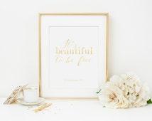 Custom Gold Foil Print