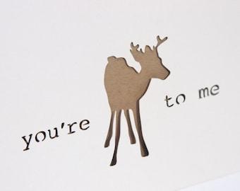 Woodland Valentine Card