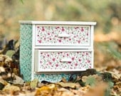 Jewelry Cabinet, Cottage Chic Organizer, Jewelry Storage, Flowers Decoration, Kids Room Box, Home Decor, Make up Organizer