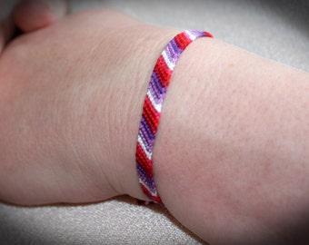 LGBTQ Lesbian Lipstick Pride Friendship Bracelet LGBT thin