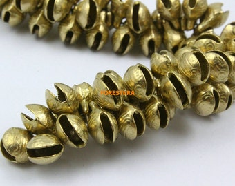 50Pcs 11mm Brass Tiger Bell Jingle Bell Pet Bell (HTLD11)