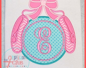 Ballet Shoes with Initial - Appliqued and Personalized