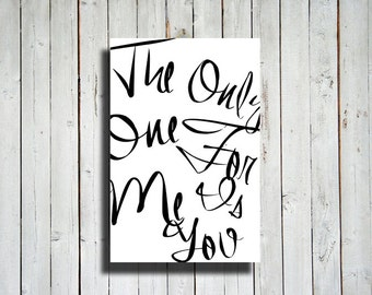Only One - Only one for me is you quote - Sign decor - Romantic decor - Love decor - Love canvas