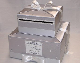 Elegant Custom made Wedding Card Box-scattered rhinestones-any colors