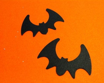 50 BLACK BAT Hand punched die cuts party decorations,Invitations,scrapbooking, HALLOWEEN cards