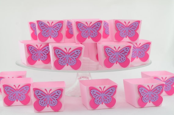 Butterfly Themed Favor Boxes : Items similar to butterfly candy cups favor box