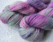 Brambles in the Mist, Teeswater rare breed wool 4-ply yarn, hand dyed / painted