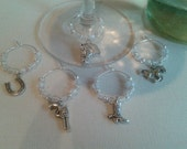 Country Western Wine Charms