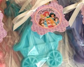 40 PRINCESS SOAP {Favors} - Princess Party, Carriage Soap, Castle Soap, Soap Party Favor, Fairytale Wedding