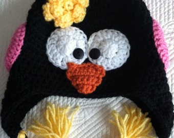 Penguin Hat, Child Animal Hat, Penguin Hat, Crochet Baby Hat, Winter Hat, Baby Hat, Newborn Hat, Child Hat