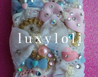 Custom Lacy Plush Princess Style Decoden Phone Case